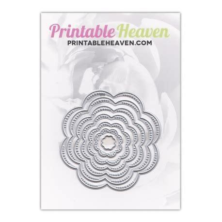 printable heaven images printable heaven dies nesting flowers 7pcs printable