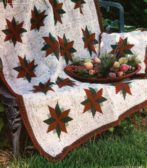pattern christmas afghan christmas star afghan pillow crochet patterns poinsettia