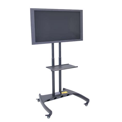 Rotating Tv Stand With Shelf by Luxor Fp Series Rotating 32 To 60 Tv Mount With Accessory Shelf Black Fp3500
