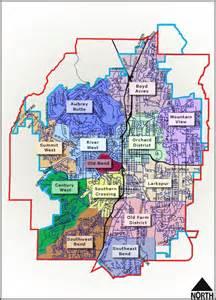 map of bend oregon neighborhoods maps and boundaries sbna southwest bend neighborhood
