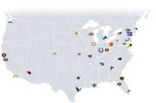 us map with nfl cities images