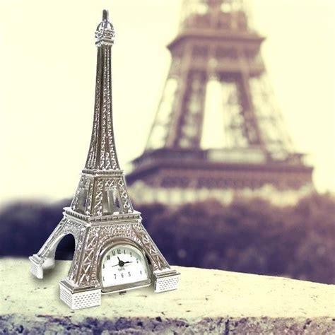 Eiffel Mini miniature clock mini silver eiffel tower ebay