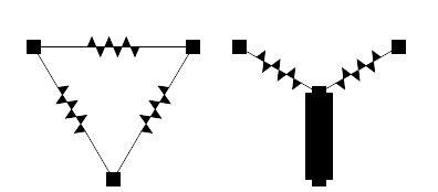 resistor network symbol delta wye resistor networks article khan academy