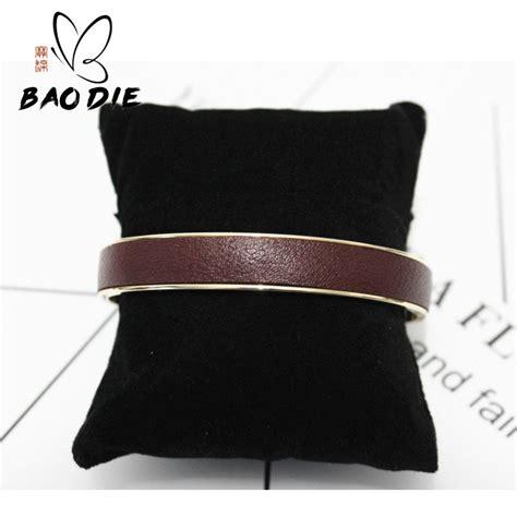 Gelang Kulit Asli Sorcery Stainless Bracelet Genuine Leather Garansi 73 buy grosir kustom kulit gelang untuk pasangan from