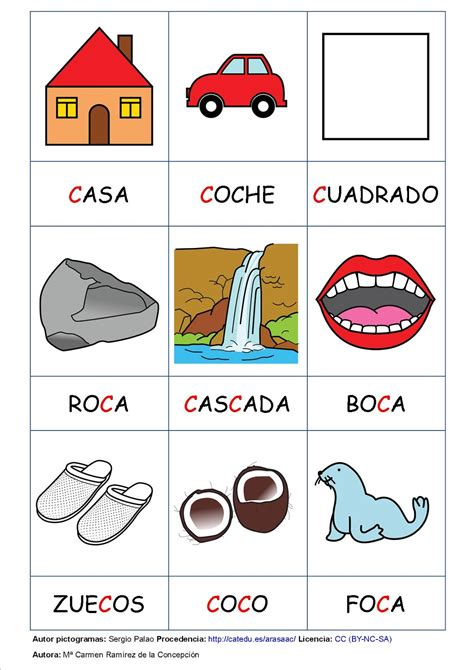 palabras con la letra c c ejemplos de palabras con c aula de infantil 1 186 y 2 186 de primaria de viguera letra c