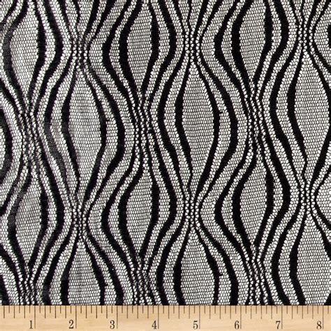 black pattern mesh fabric sheer mesh wavy black discount designer fabric fabric com