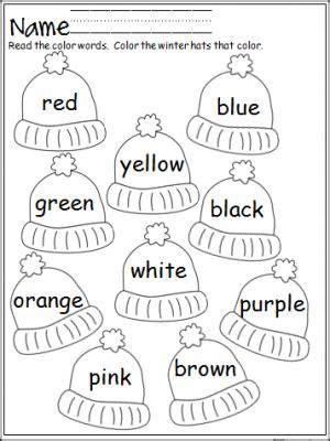 color words worksheet best 25 kindergarten colors ideas on color