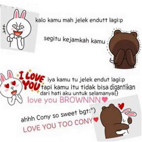 theme line lucu display picture dp bbm line lucu brown and cony info