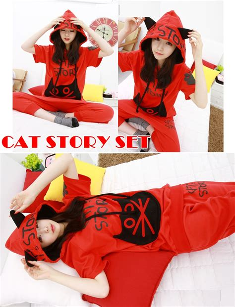 Cats Sweater Jaket Tebal cat story set hoodie