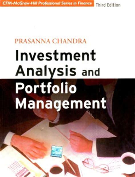 bank investment portfolio buy investment analysis and portfolio management 3 edition