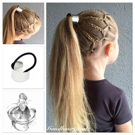 a cool ponytail with haircuff from goudhaartje nl