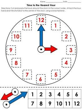 clock worksheets cut and paste clock cut and paste preschool worksheets clock best free