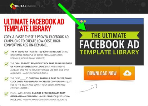 How To Use Facebook Ads And Leadpages To Build Your List And Get Customers Digital Marketing Lead Magnet Template