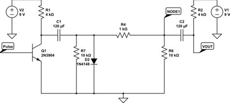 steady state voltage drop across capacitor capacitor calculating the voltage out of this particular cap coupled circuit electrical
