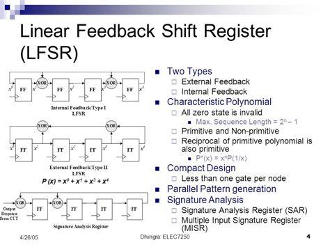 test pattern generator using lfsr for bist comparison of lfsr and ca for bist ppt video online download