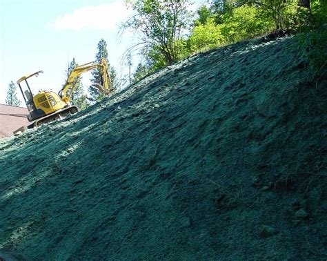 hydroseeding steep slopes with extra tackifier