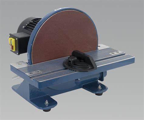 bench disc sander sealey sm31 disc sander bench mounting 216 305mm 750w 230v