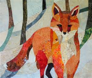 Quilted Fox by Fox In The Snow Quilt Fabric