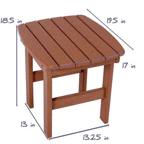 durawood side table pawleys island hammocks