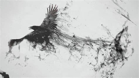 wallpaper dark bird crow turning into smoke wallpaper 14570