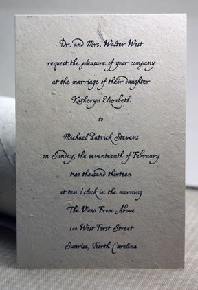 4x6 Wedding Invitations by 4x6 Lotka Paper Invitations