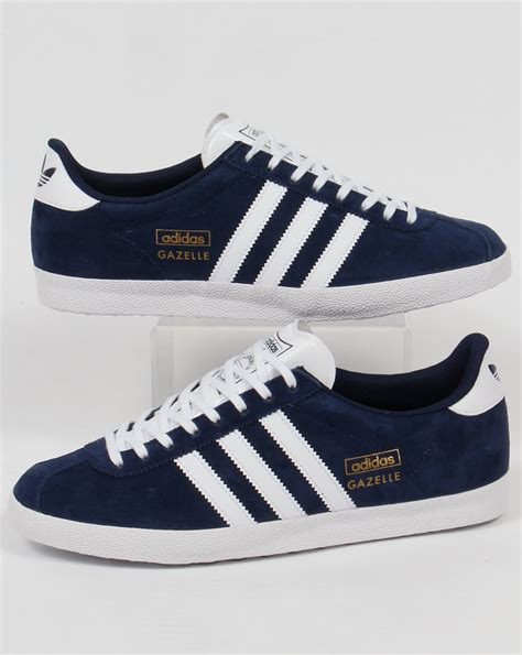 Adidas Nevy adidas gazelle og trainers navy white originals mens
