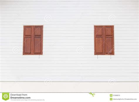 wooden house windows brown wooden windows on white wooden house stock photo image 31996610