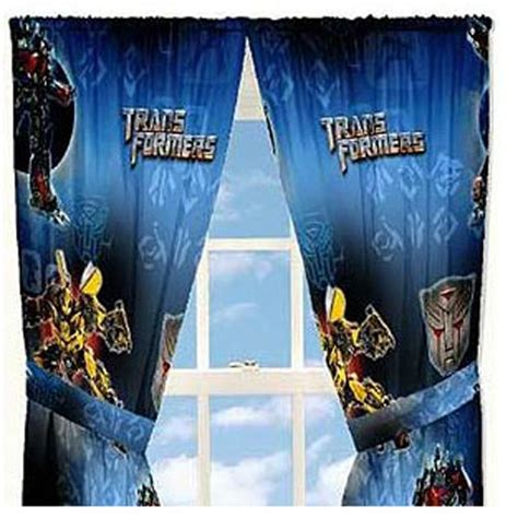 transformer curtains new 4pc transformers armada curtains optimus prime