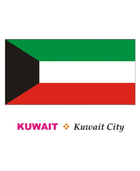 Kuwait Flag Coloring Pages For Kids To Color And Print Kuwait Flag Coloring Page