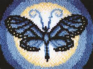 caron latch hook rug kit butterfly moon ebay