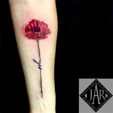 poppycock tattoo poppy flower 187 new top artists 2018 top artists 2018