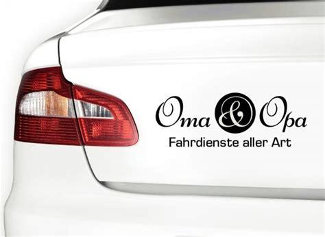 Autoaufkleber Monster by Autoaufkleber Oma Opa X7112 Heck Scheibenaufkleber
