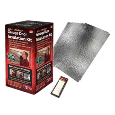 Reach Barrier Air Reflective Garage Door Insulation Kit Insulated Garage Doors Home Depot