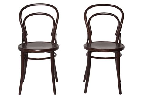 Bistro Dining Chairs Pair Of Black Bistro Chairs Omero Home