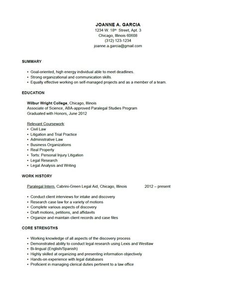 history resume templates sles simple resume exles