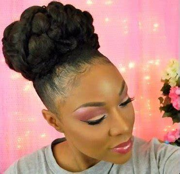 african american bun on naturalmedium length hair gorgeous bridal bun for medium length natural hair