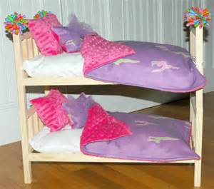doll bunk bed mckenna bunk bed with gymnastics bedding