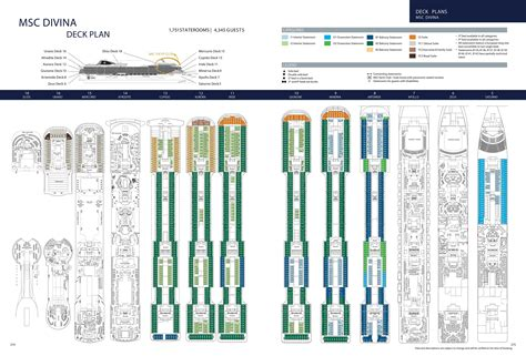 divina msc deck plan msc divina cruisetour