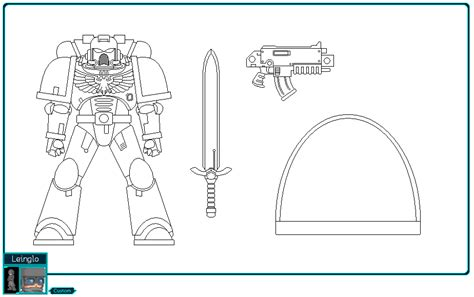 Space Marine Template by Space Marine Color Template By Leinglo On Deviantart