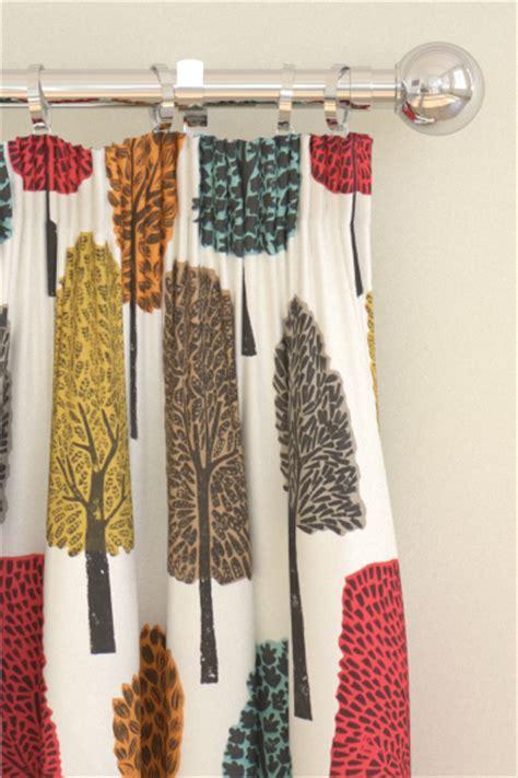 scion ready made curtains cedar by scion tangerine sulphur and chilli wallpaper