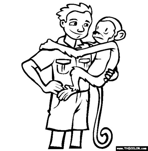coloring page of a zookeeper online coloring pages starting with the letter z