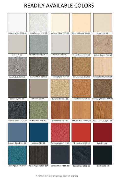 laminate colors partition laminate color chart