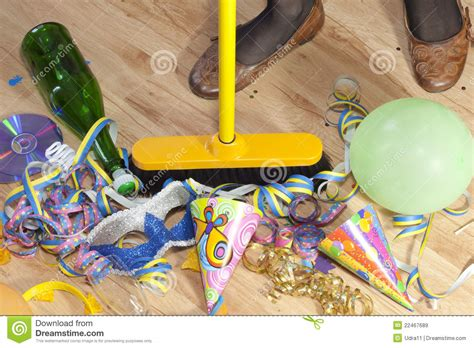 party clean cleaning mess after party royalty free stock images