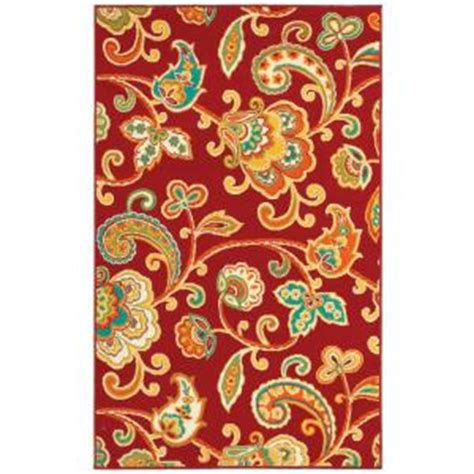 Shaw Living Paisley Red 7 Ft 10 In X 10 Ft 6 In Indoor Shaw Area Rugs Home Depot