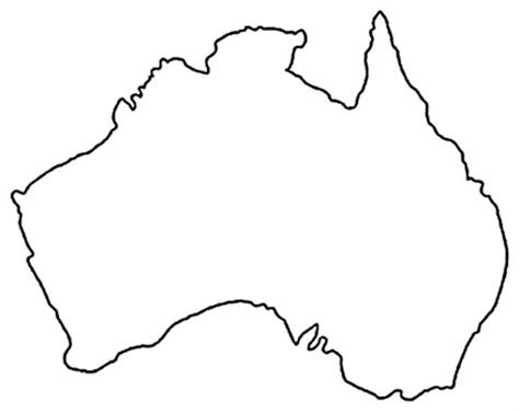 Printable Map Of Australia For Kids Clipart Best Australia Map Coloring Page