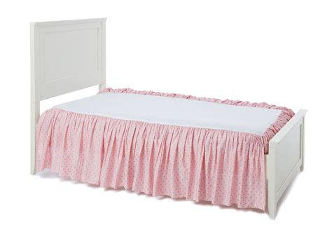 bed shirts always enchanting pink gold bed skirt beddy s