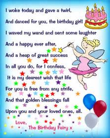 birthday fairy poem message for a rooftop post