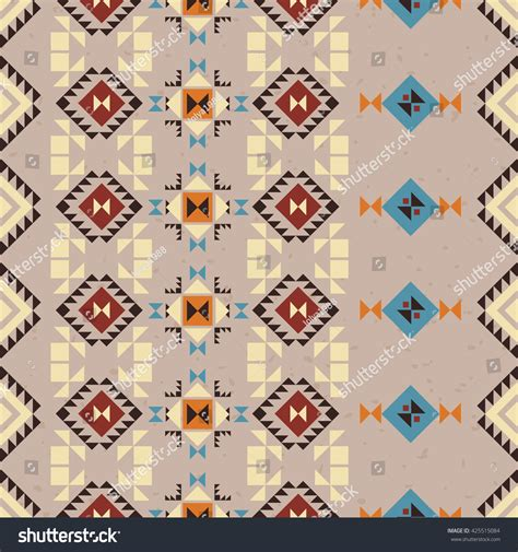 seamless tribal pattern vector aztec seamless pattern geometric tribal stock