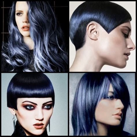 navy hair color stylenoted inspirational hair color in the navy
