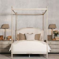 Regency Canopy Poster Bedroom Dauphine Canopy Four Poster Bed In Weathered White